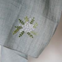 BRIDAL WREATH HANKIE _ 조팝나무 자수손수건