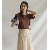 5color square neck blouse