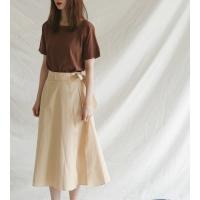 belt detail wrap skirt