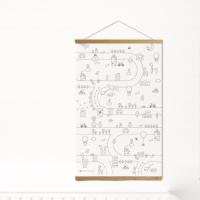 이응이 컬러링 하우스-한글 컬러링 포스터