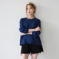 Waist shirring blouse