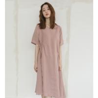 unbalance v-neck dress