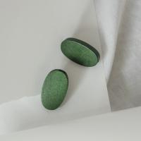 88 - wooden oval earring