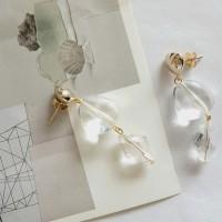 91 - clear stone drop earring