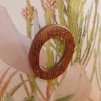 89 - bold wooden oval earring