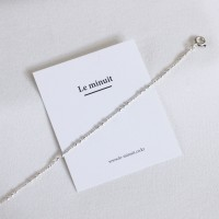Dot chain anklet (은볼 발찌) [92.5 silver]