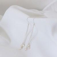 pearl drop earring (진주 귀걸이) [92.5 silver]