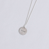 Coin initial necklace - 가운데 (코인 각인 목걸이) [92.5 silver]