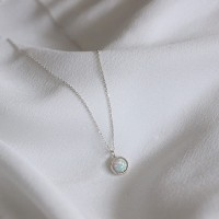 Opal necklace (오팔 목걸이) [92.5 silver]