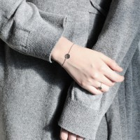 Circle hammer bracelet (써클 해머 실버 팔찌) [92.5 silver]