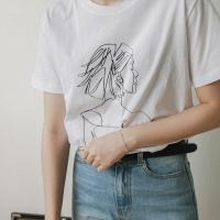 걸 드로잉 티셔츠 (4-COLORS)