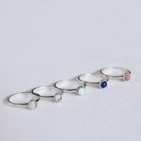 빈티지 천연 원석 반지 (5 stones) [92.5 silver]