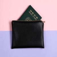 [달콤브릭] 플레인D 리얼블랙 여권 트래블파우치 ver.6