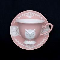 카페룸넘버1508 부엉이커피잔세트 rose pastel