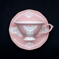 카페룸넘버1508 사슴홍찻잔세트 rose pastel