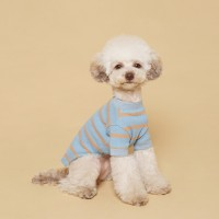 Fresh Stripe Tee-Shirt Sand Blue