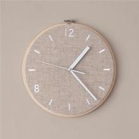 Fabric Clock_Milky Beige