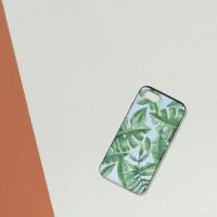 NBH-0067 트로피컬 leaves 하&흰 슬라이더케이스
