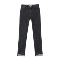 DOUBLE SLIT JEANS apa157(Black)_(902389951)