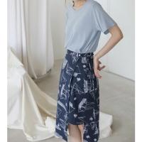 illust wrap skirt