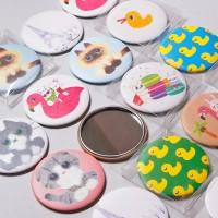 캐릭터 원형 손거울 (패브릭지) 10타입