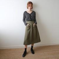 Work linen skirt