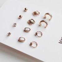 Comma earring set