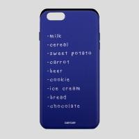 [어프어프][슬라이드케이스]Shopping list-blue