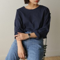 basic wide sleeve tee