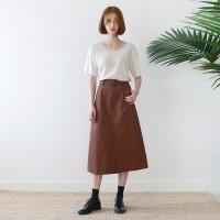Front slit solid skirt