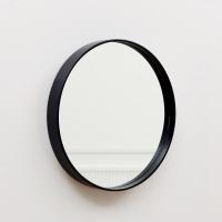 우드로하우스 북유럽풍 원목원형거울 41cm원형거울