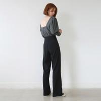 Simple slim straight slacks