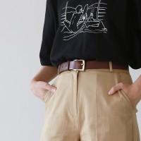 Cowhide hard belt
