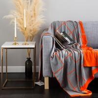 포인트 체크 담요-오렌지(130x180).