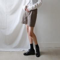 Wide cotton half pants