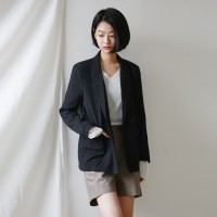 Stripe standard-fit jacket