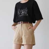 Basic rolling cotton short