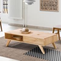 [잉카] 베네치아 원목 서랍 테이블 1200