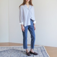 [25일예약발송]TAILORED BLOUSE-STRIPE