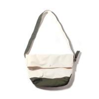 FLAP MESSENGER BAG-NATURAL/OLIVE