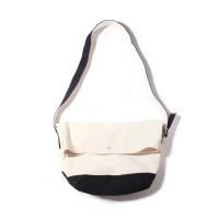 FLAP MESSENGER BAG-NATURAL/BLACK