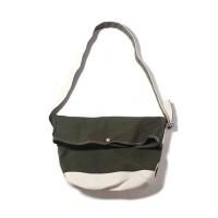 FLAP MESSENGER BAG-OLIVE/NATURAL