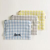 [헤이모이] Check Pouch - 3colors