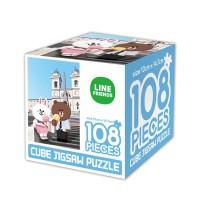 라인프렌즈 큐브 직소퍼즐 108조각 로마에서