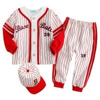 한국생산 야구 상하복과 모자 레드(0-24개월)800024_(902395739)