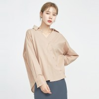 feminine cross button blouse_(700524)