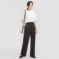 minimal high cotton pants_(700361)