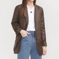 mannish line simple jacket_(700196)