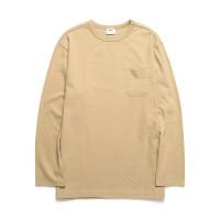 [HEAVYWEIGHT] 스탠다드 포켓 10수 긴팔 티셔츠_베이지 (WDTS202)