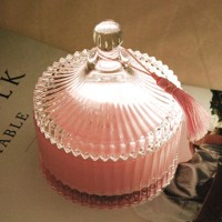 ANTIQUE GLASS CANISTER (PINK) 소이캔들